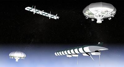 Unmanned High Altitude Aircraft, Artwork Art Print by Christian Darkin