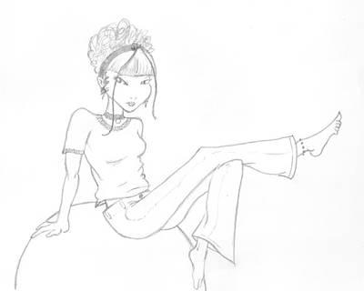 Unnamed Girl Art Print