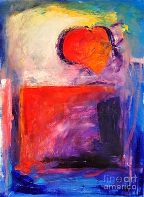 Abstrat Painting - Unrestricted Heart Three by Johane Amirault