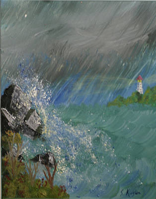 Kugler Painting - Unsettled Waters by Scott Kugler