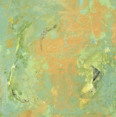 Painting - Untitled Abstract - Caramel Teal by Kathleen Grace