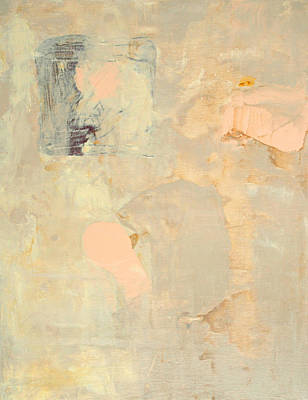 Painting - Untitled Abstract - Ecru And Peach by Kathleen Grace
