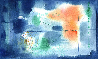 Watercolor Painting - Untitled Abstract 310-12 by Sean Seal