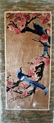 Silk Wall-hanging Tapestry - Textile - Untitled by Anonymous
