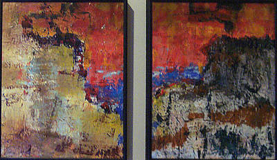 Painting - Untitled Diptych by Charlie Harris