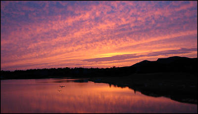 Art Print featuring the photograph Untitled Sunset-6 by Bill Lucas