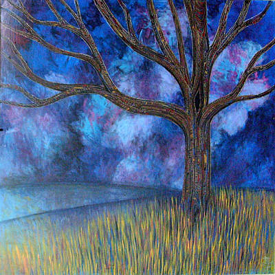 Art Print featuring the painting Untitled Tree 0001 by Monica Furlow