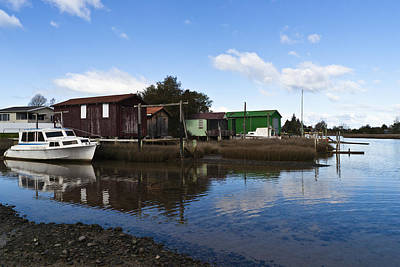 Photograph - Unused Boathouses by Graeme Knox