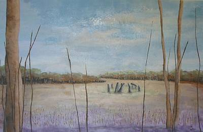 Henge Painting - Up Among The Heather by Catherine JN Christopher