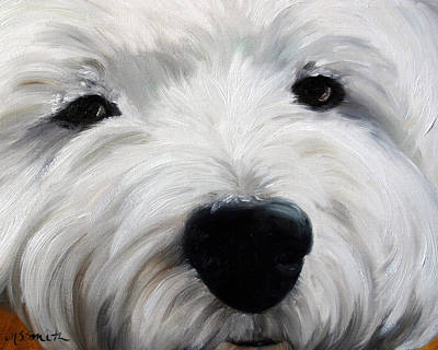 Dog Close-up Painting - Up Close And Personal II by Mary Sparrow