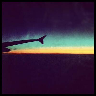 Airplane Photograph - Up In The Air :) On My Way To #london by Abdelrahman Alawwad