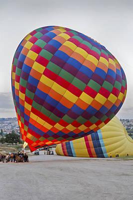 Up She Rises Hot Air Balloon Art Print by Kantilal Patel