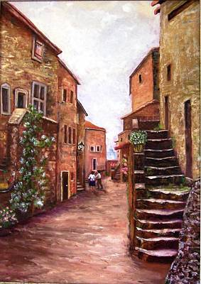 Painting - Up The Alley by Renate Voigt