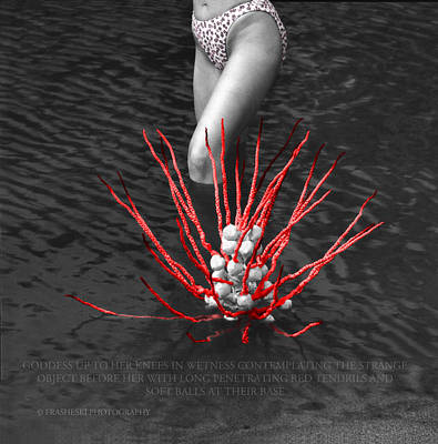 Up To Her Knees In Wetness Art Print by Andy Frasheski
