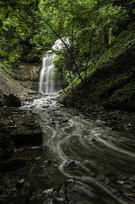 Photograph - Up To The Falls - Tiffany Falls by Alan Norsworthy