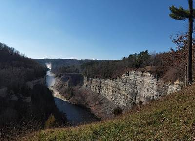 Photograph - Upper And Middle Falls At Letchworth State Park by Joshua House