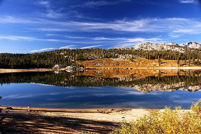 Photograph - Upper Blue Lake Mirror 1 by Michael Courtney