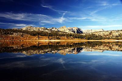 Upper Blue Lake Mirror 3 Art Print by Michael Courtney