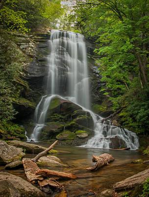 Fall Trees With Stream Photograph - Upper Catawba by Joye Ardyn Durham