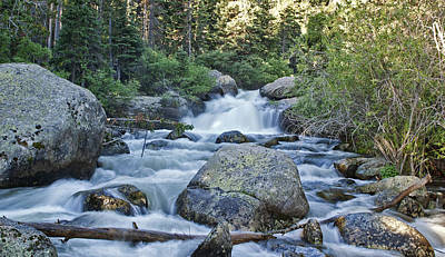 Photograph - Upper Copeland Falls Rmnp by Gregory Scott