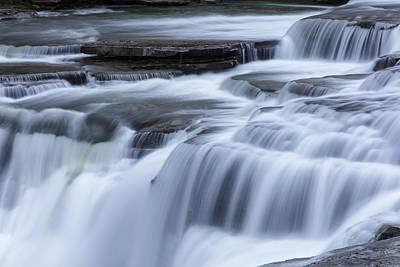 Letchworth Photograph - Upper Falls Detail by Rick Berk