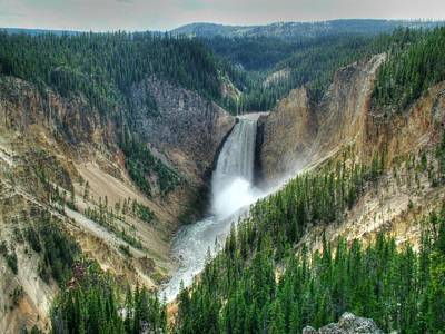 Photograph - Lower Falls In Yellowstone National Park by Ken Smith