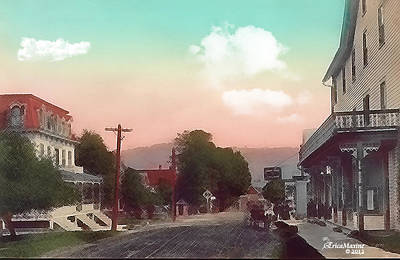 Photograph - Upper Main Street - Livingston Manor Ny by Ericamaxine Price