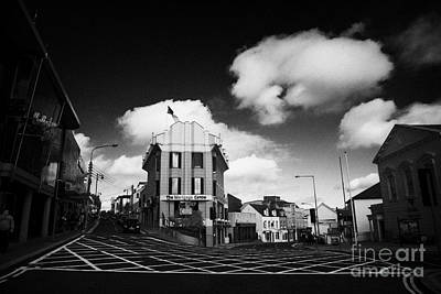 The Main Photograph - Upper Main Street Including The Courthouse Gallaghers Hotel Letterkenny County Donegal Ireland by Joe Fox