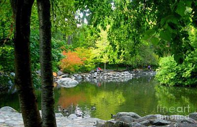 Serenity Oregon Painting - Upper Pond by Shasta Eone