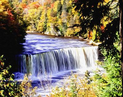 Photograph - Upper Tehquamenon Falls by Anne Raczkowski