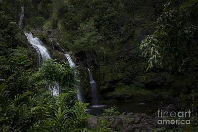 Photograph - Upper Waiokane Falls Wailua Nui Koolau Forest Hana Maui Hawaii by Sharon Mau