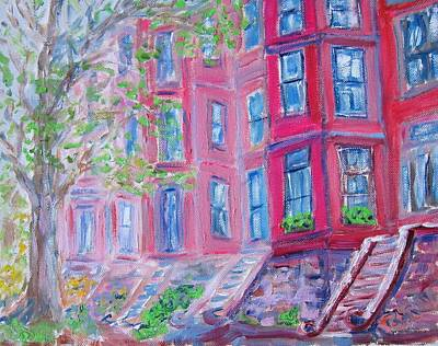 Upper West Side Brownstones Art Print