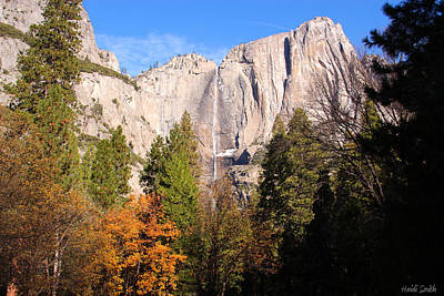 Photograph - Upper Yosemite Falls In Autumn by Heidi Smith