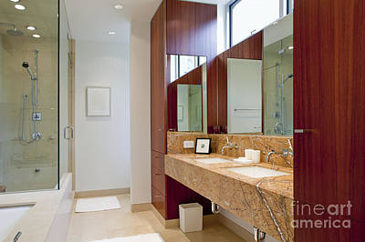Upscale Photograph - Upscale Bathroom Interior by Inti St. Clair
