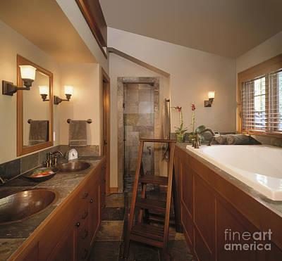 Upscale Photograph - Upscale Bathroom by Robert Pisano