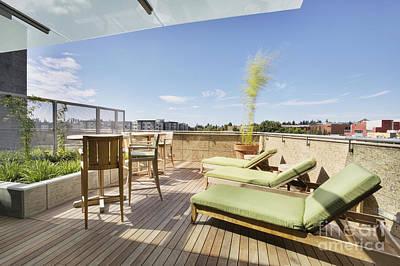 Upscale Photograph - Upscale Deck Area by Andersen Ross