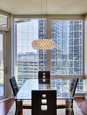 Upscale Photograph - Upscale Dining Area In High Rise Condo by Andersen Ross