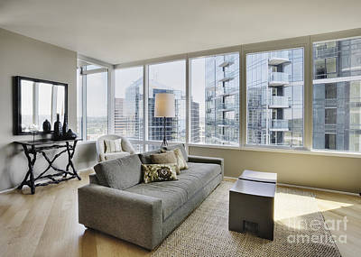Upscale Photograph - Upscale Living Room In High Rise Condo by Andersen Ross