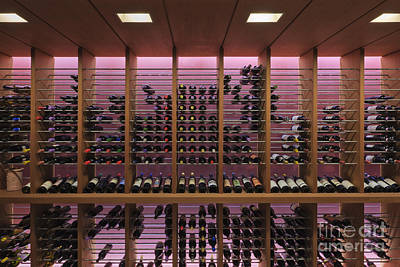 Upscale Photograph - Upscale Wine Rack by Jeremy Woodhouse