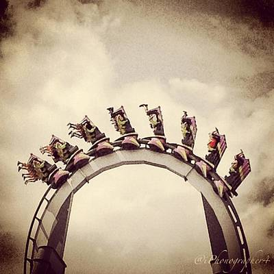 Iphone 4s Photograph - Upside Down On Top Of The World At by Pete Michaud