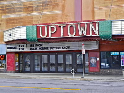 Uptown Theatre Art Print by David Ritsema