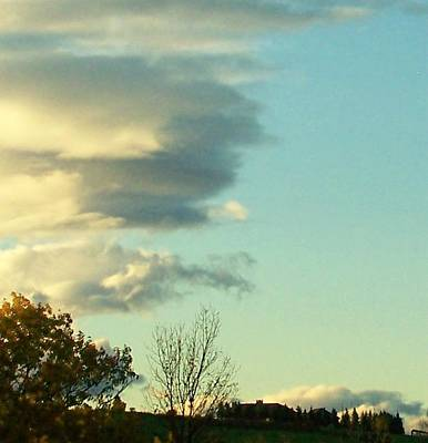 Upward Clouds Art Print