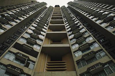 Upward View Of A Public Housing Print by Justin Guariglia