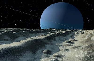 Trench Digital Art - Uranus Moon Miranda Is Covered by Ron Miller