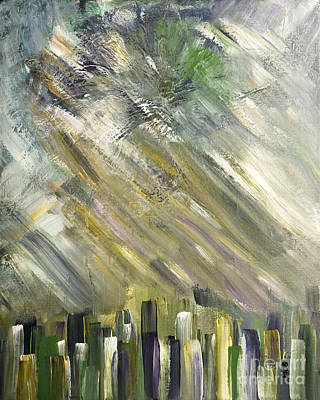 Painting - Urban City by Marie Christine Belkadi