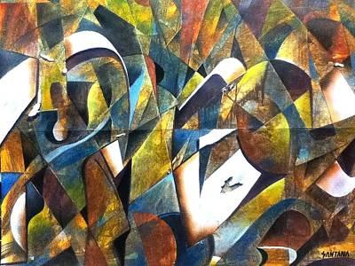 Jolalpan Painting - Urban Conversation by Joe Santana