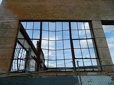 Photograph - Urban Decay - The Sky Is The Roof by Kathleen Grace