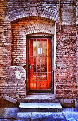 Back Porch Photograph - Urban Door In Old Brick Building by Jill Battaglia