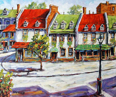 Quebec Painting - Urban Montreal Street By Prankearts by Richard T Pranke