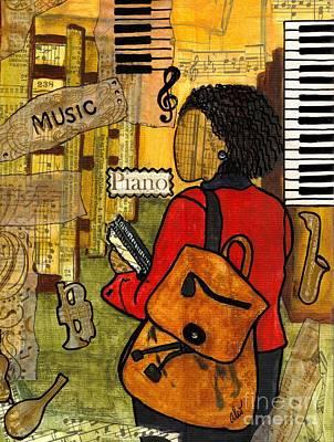 Urban Music Student Art Print